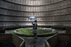 Der stillgelegte Kühlturm von Charleroi, Belgien