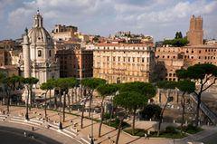 Aussicht von der Dachterrasse des Il Vittoriano