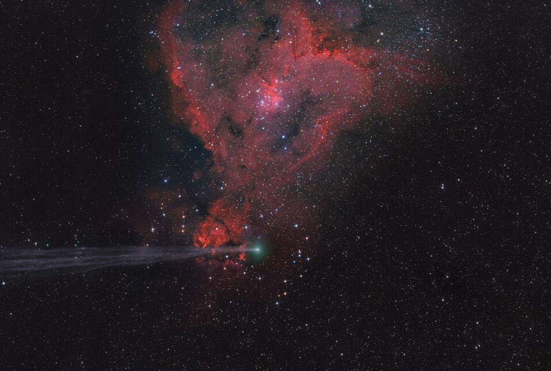 Komet im Nebel