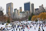 Das Eislaufen im Central Park und auf dem Rockfeller Ring