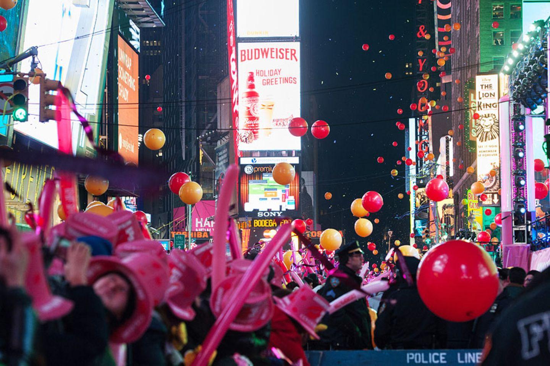 Der Ball Drop am Times Square