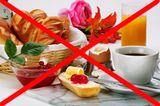 Auf das Frühstück verzichten