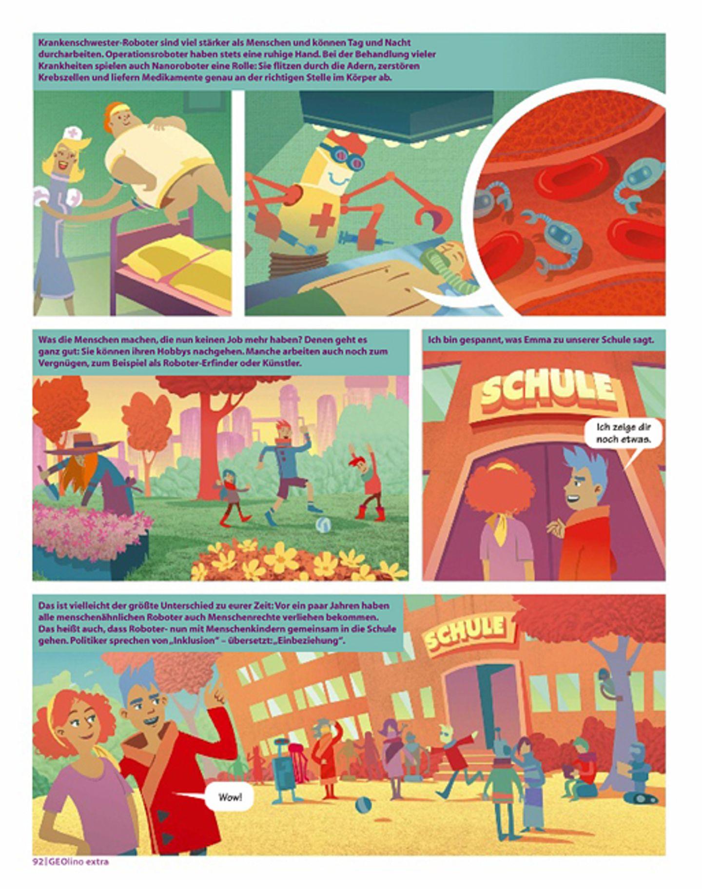 Zukunft: Comic: Zu Besuch bei den Robotern der Zukunft - Bild 4