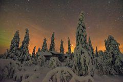 Finnische Wanderhütte
