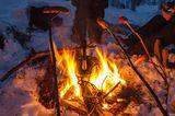 Barbecue im Schnee