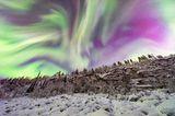 Aurora am Eisfall