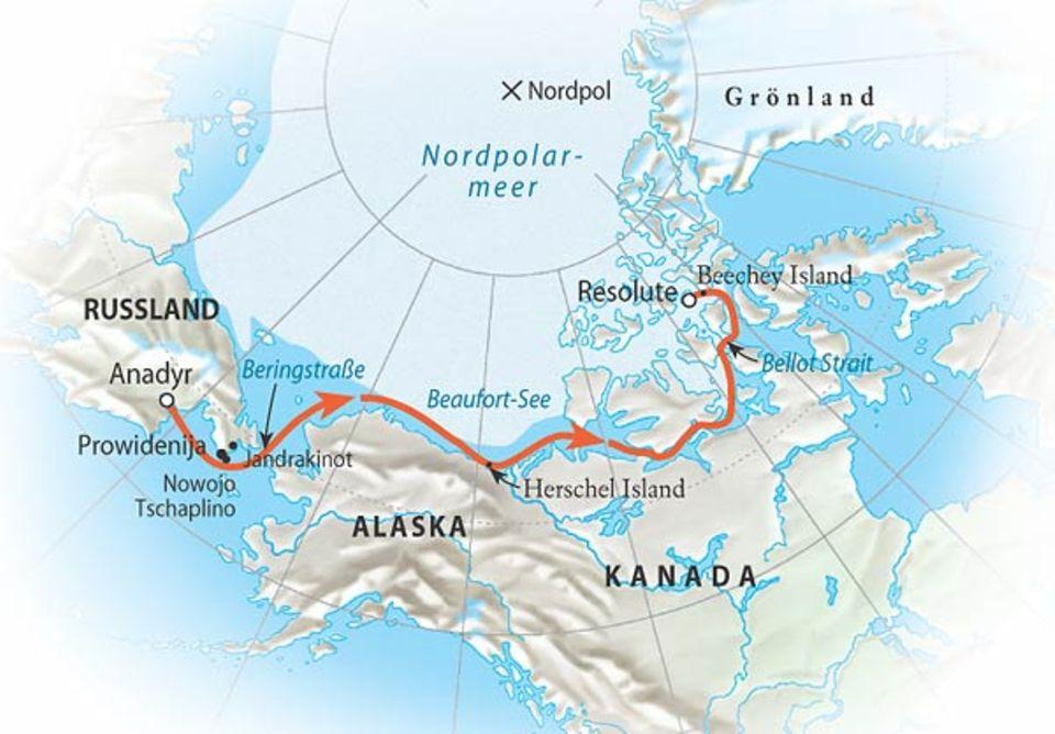 Zwischen Festland und Eis: Die Route im Überblick