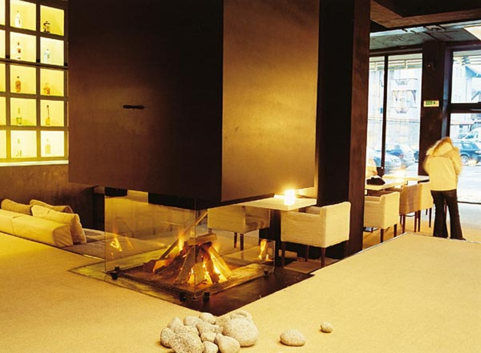 """Der schönste Platz von Bansko, um nach einem Skitag Füße und Herz aufzuwärmen: die """"Villa Roka"""" ist ein japanisch inspiriertes Design-Hotel mit Spa und hohem Eleganzfaktor"""