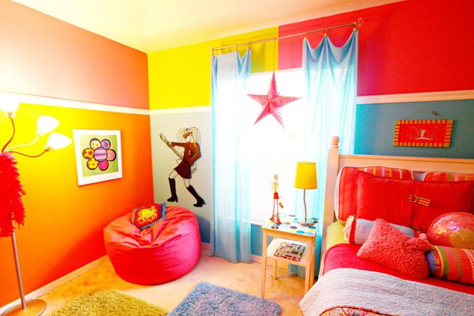 Psychologie: Lisas Zimmer ist farbenfroh - doch sind es die richtigen Farben für Lisa?