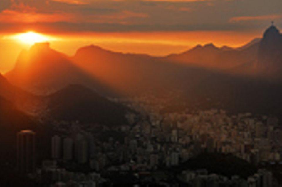 Schiebepuzzle: Nr. 207: Sonnenuntergang in Rio de Janeiro