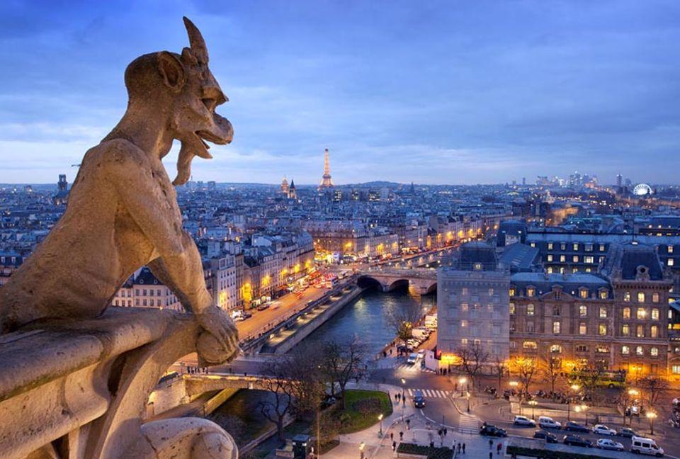 Städtereise: 387 Stufen hinter sich, grimmige Dämonen neben sich und eine Diva zu Füßen: Traumblick von der Kirche Notre-Dame