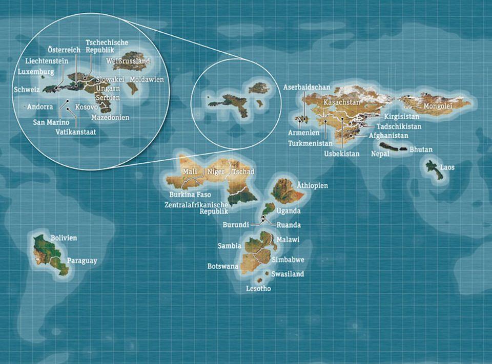Weltspiel: Zum Vergrößern der Karte