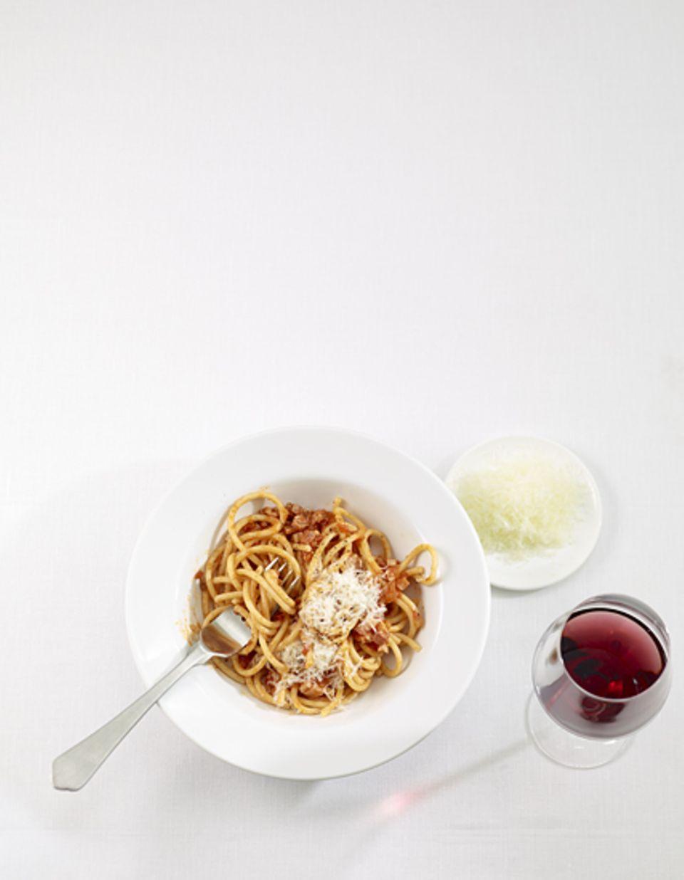 Rezept: Pasta all'amatriciana: Pasta all'amatriciana