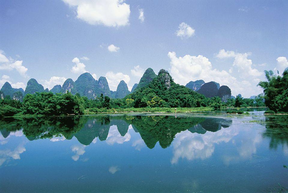 Reisespecial: Faszination des Südens: Die Karstberge von Guangxi wirken märchenhaft