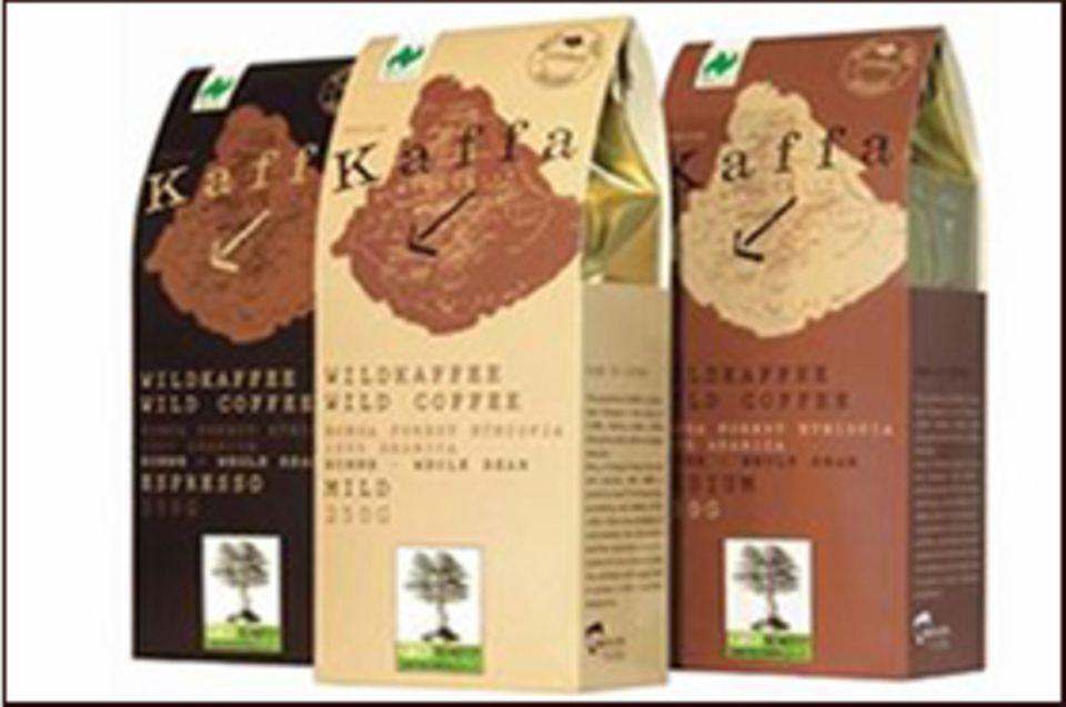 Die drei Sorten des Wildkaffees: Espresso - mild - medium