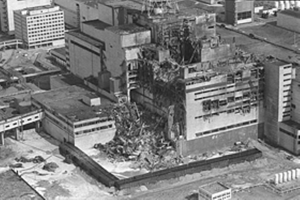 Tschernobyl: Der zerstörte Reaktorblock in Tschernobyl