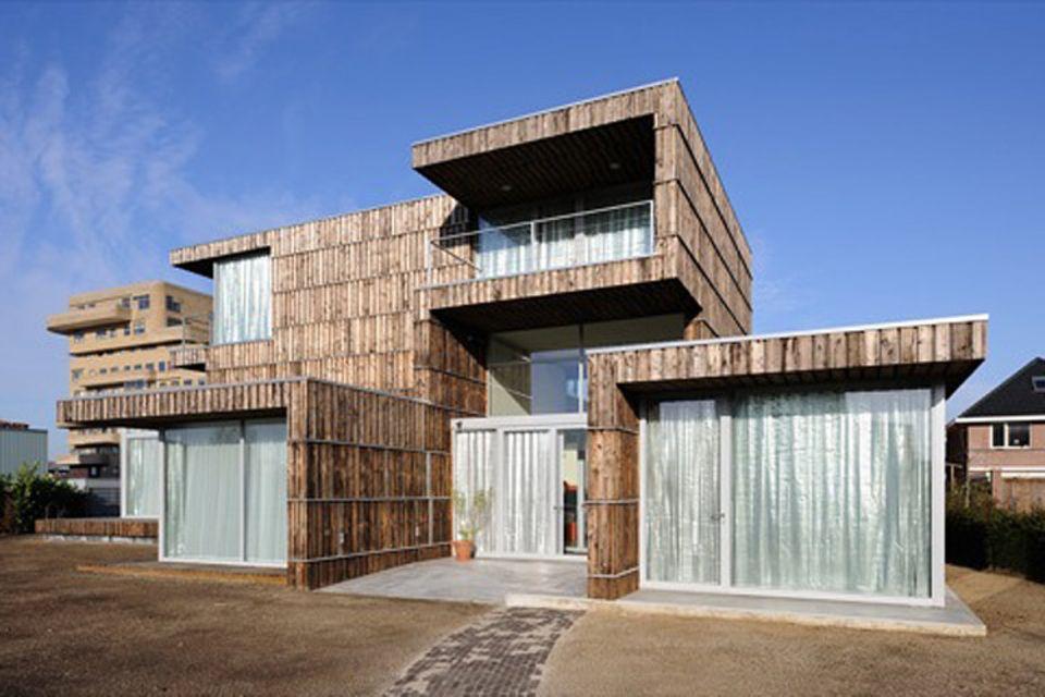 Recycling: Ausrangierte Materialien wiederverwertet: ein Haus der 2012Architecten