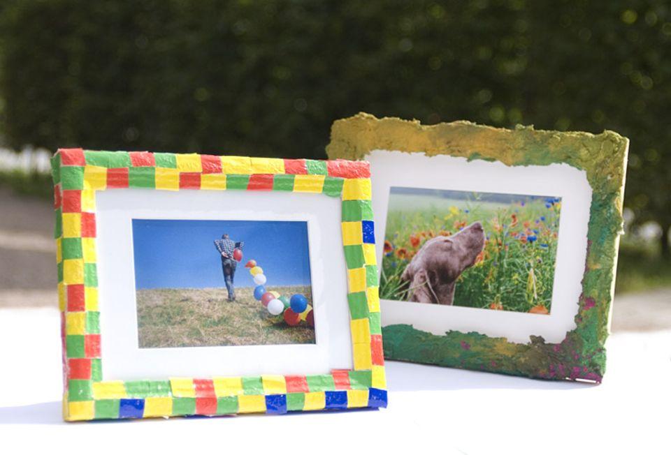 Geschenke: Umweltfreundlich und kreativ: selbst gestaltete Bilderrahmen