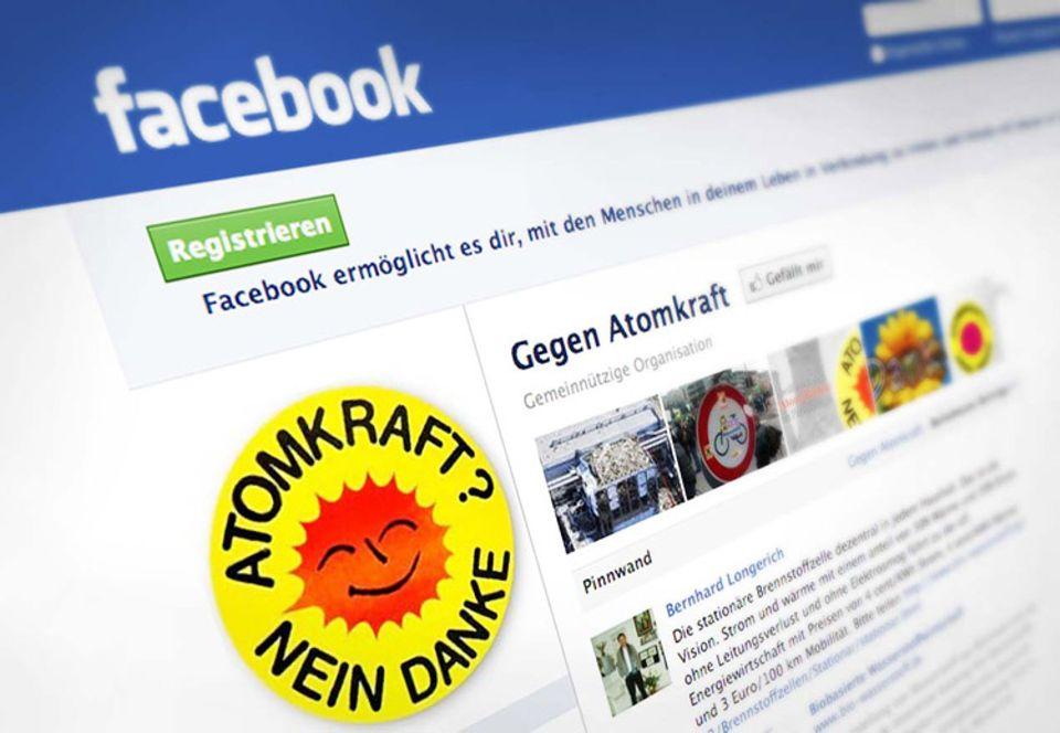 Soziale Medien: Atomkraft-Gegner sammeln sich in einer Gruppe auf Facebook