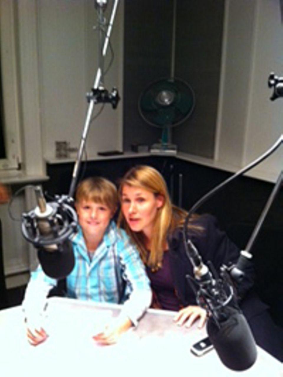 Beruf: Philipp zusammen mit seiner Mutter im Studio