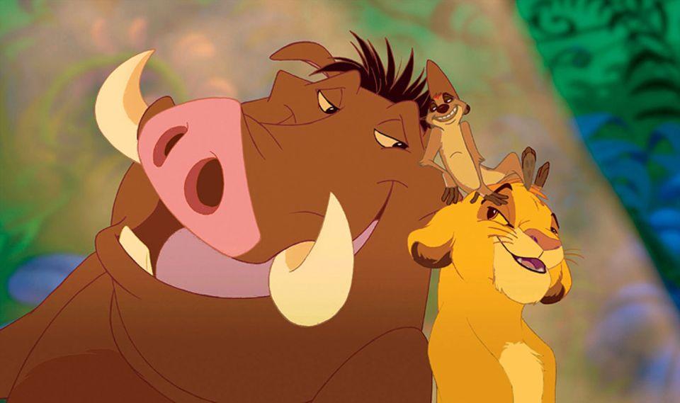 Kinotipp: Ein unzertrennliches Trio: Pumbaa, Timon und Simba