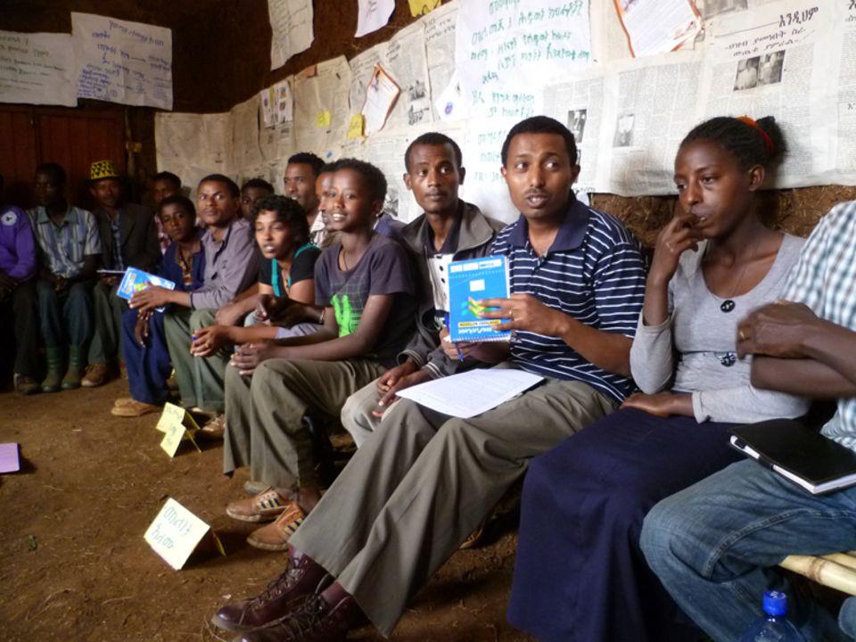 Meeting im Jugendklub von Kasha