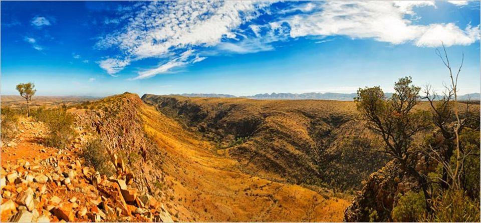 Der Larapinta Trail im Roten Zentrum gehört zu den schönsten Fernwanderwegen