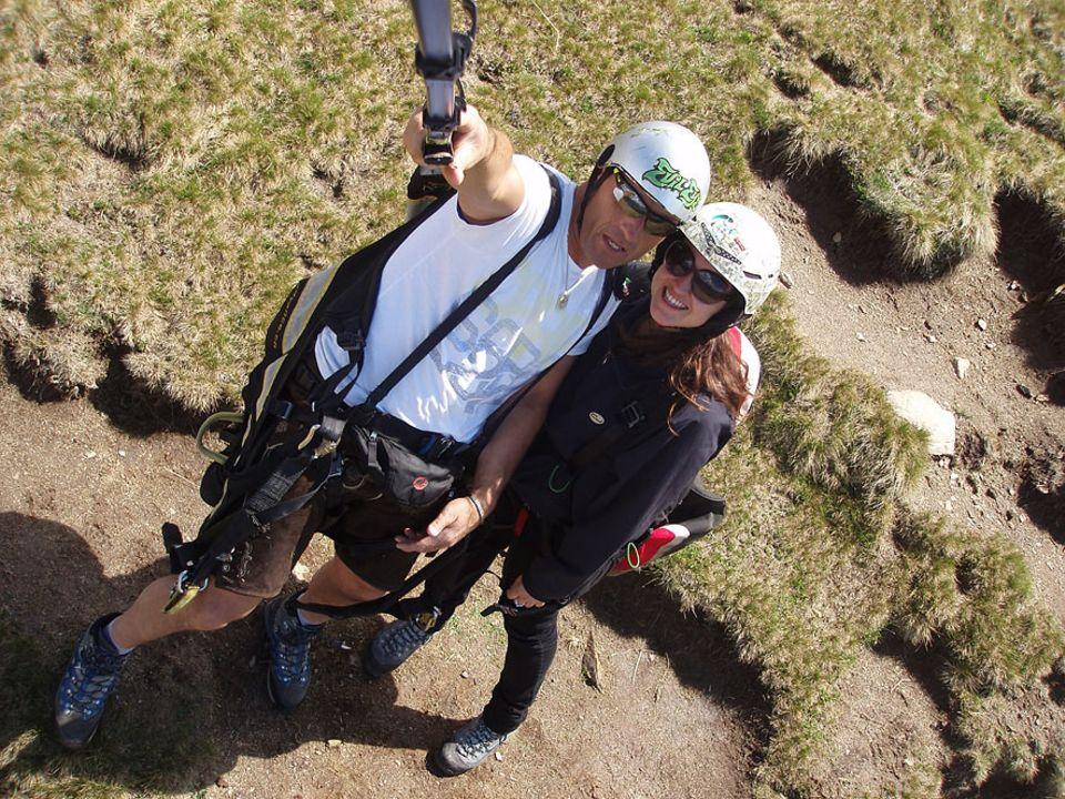 Paragliding in Südtirol: Zurück auf dem Boden zittern die Knie noch ein wenig