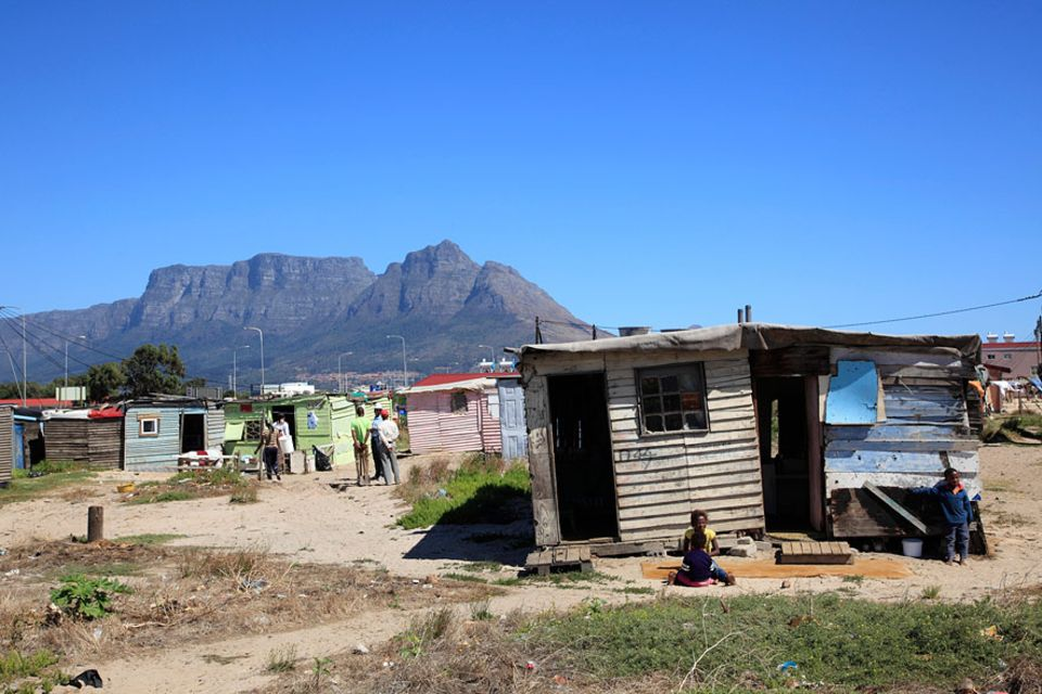 Slum-Architektur: Township in Cape Town, Südafrika