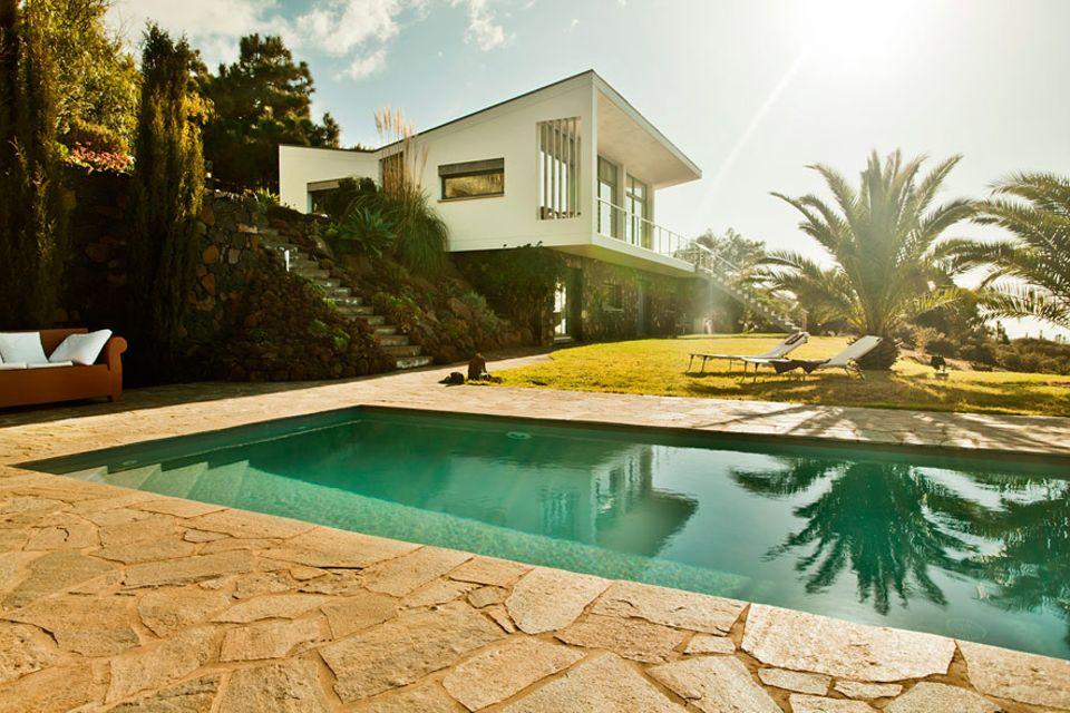 Ferienhäuser: Die Villa Gran Atlantico steht an einem Steilhang auf der Insel La Palma