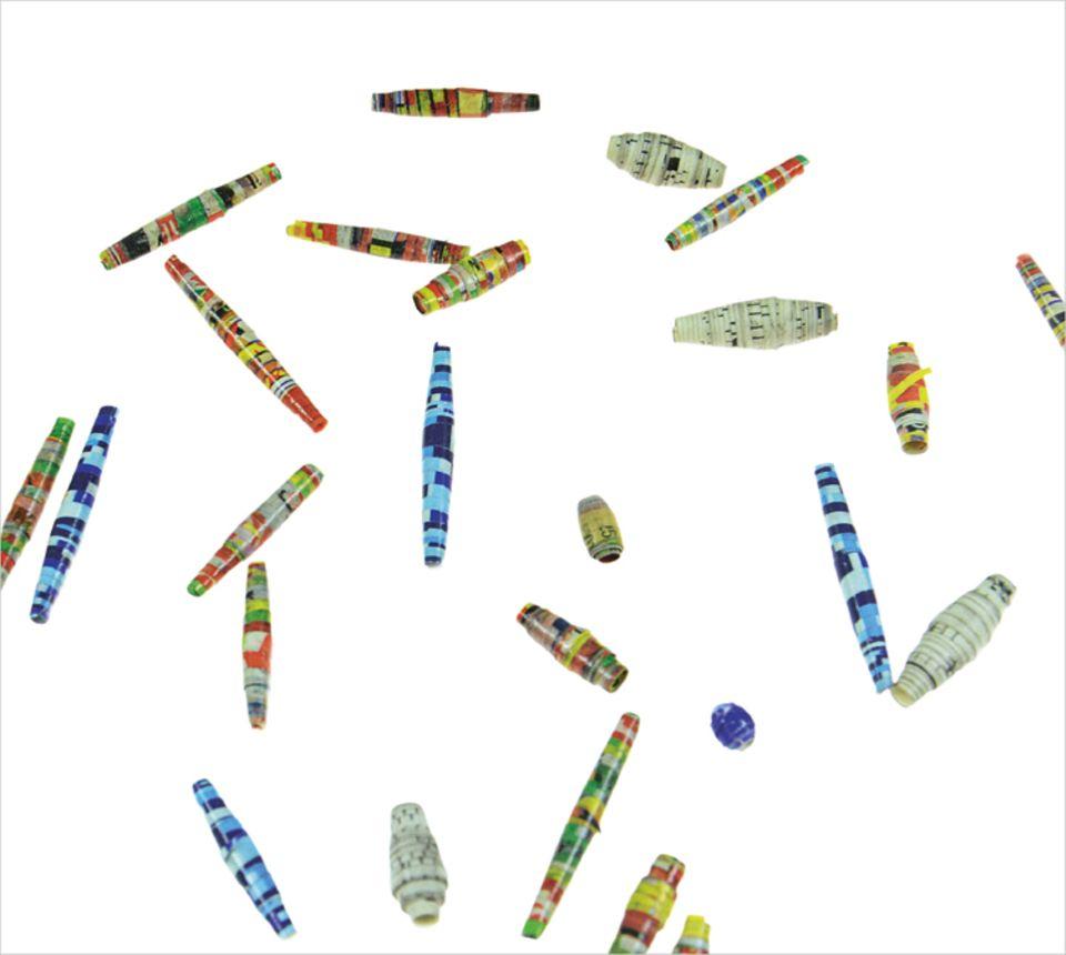 Basteln: Solche tollen Perlen könnt ihr aus Papier machen
