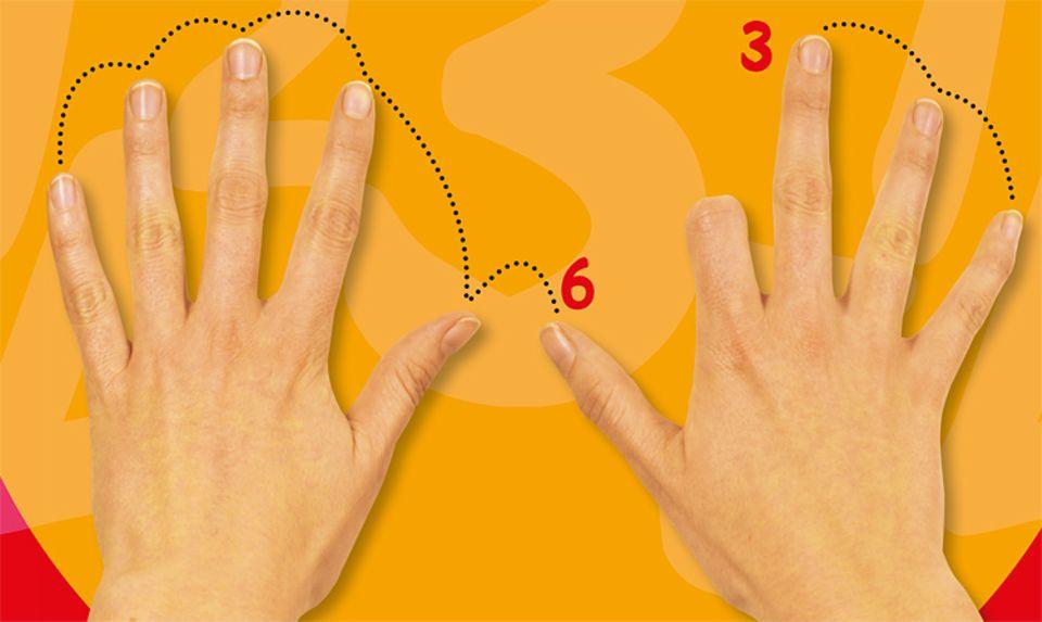 Mathematik: Benutzt eure Finger! Sie sind eine super Hilfe, wenn es kniffelig wird