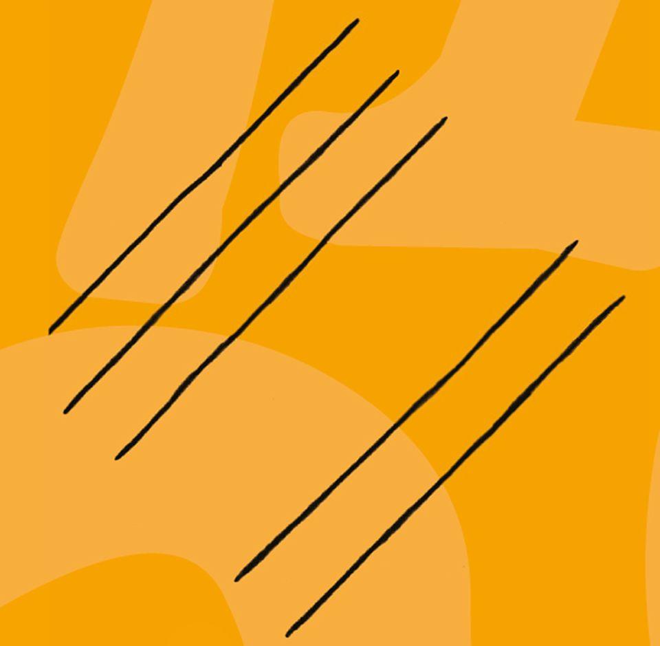 Mathematik: Zuerst Linien für jede Ziffer zeichnen