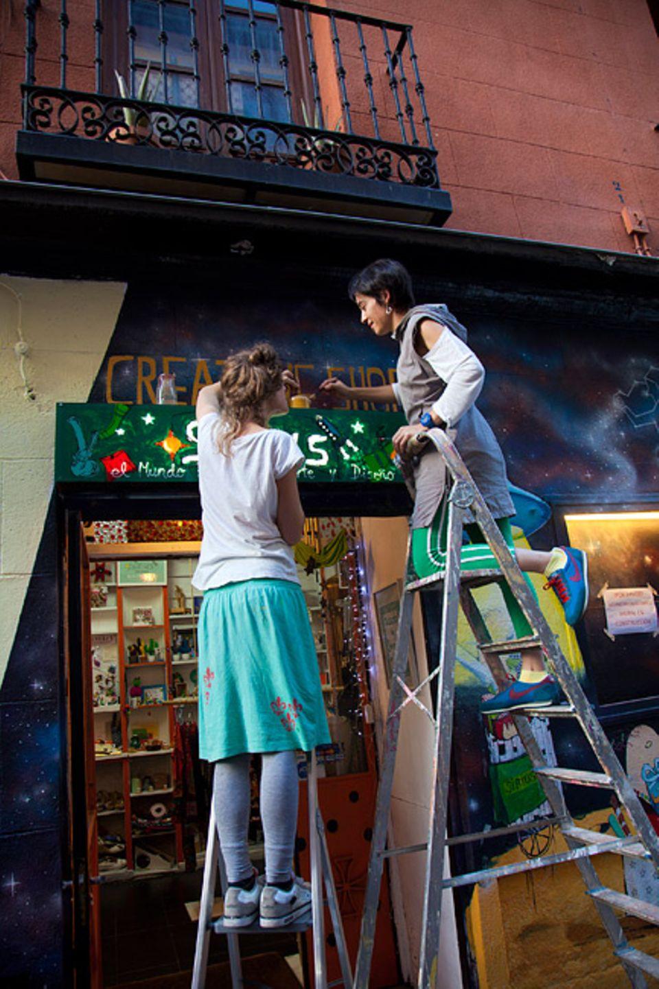 Madrid: In dem neuerwachten Viertel Malasaña fühlen sich besonders die jungen Kreativen wohl