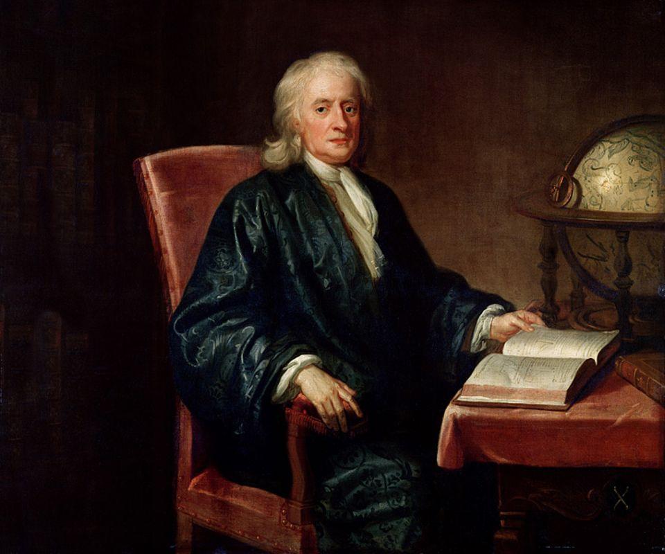 Weltveränderer: Isaac Newton schrieb die Lehre der Schwerkraft (Gravitationslehre) und wies die Zusammensetzung von Licht nach
