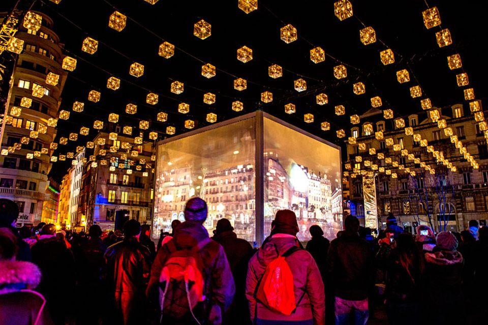 Lyon: Vier Nächte lang sorgen rund 70 Licht-Installationen für ein wahres Lichtermeer in Lyon