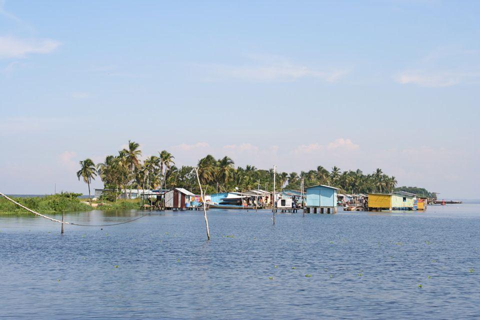 Das Pfahlbaudorf Ologa am Maracaibo-See liegt im Epizentrum der Blitze von Catatumbo