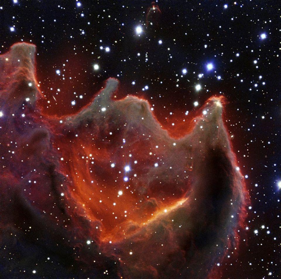 Astronomie: CG4 befindet sich knapp 1300 Lichtjahre von der Erde entfernt im Sternbild Puppis