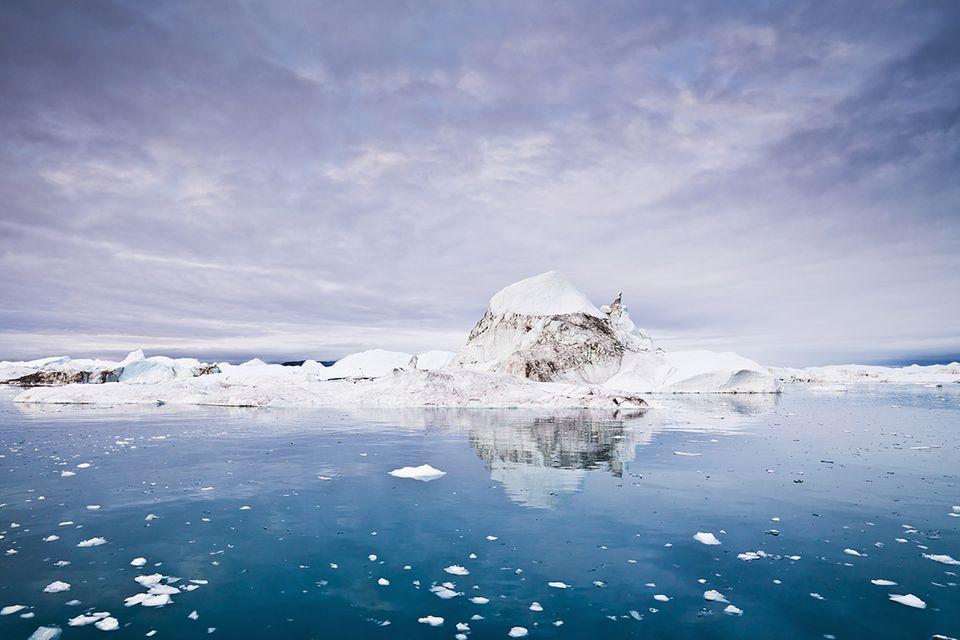 Klimawandel: Animation: So stark schmilzt das Eis der Arktis