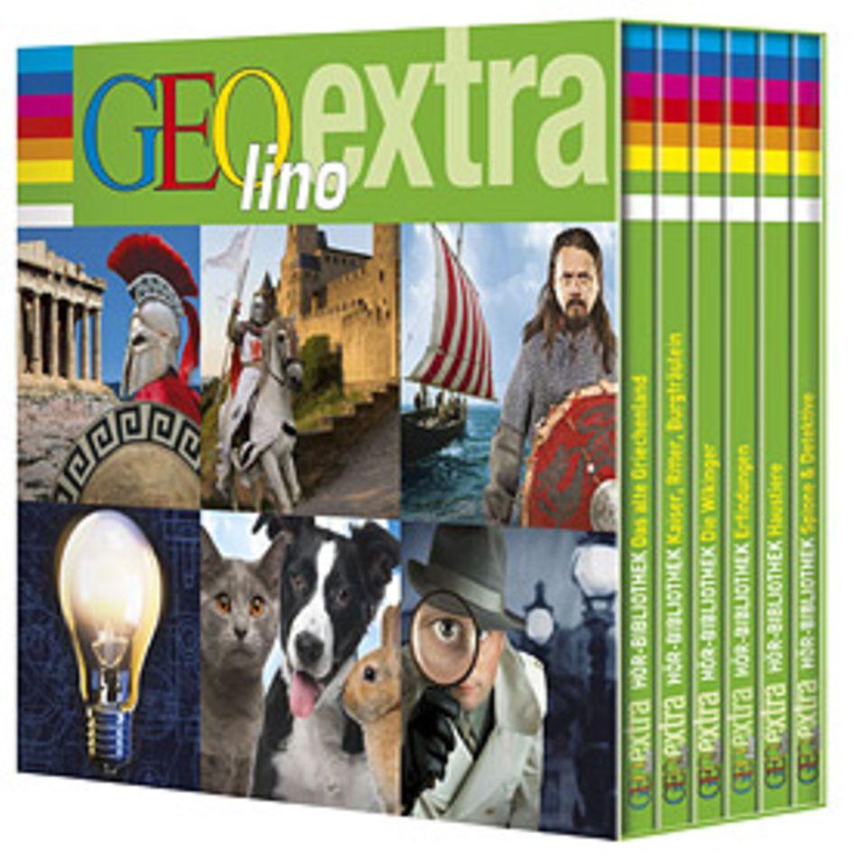Hörbox: Die GEOlino-Hörbuchbox enthält spannende Inhalte aus sechs Heften