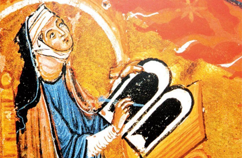 GEO EPOCHE KOLLEKTION: Verehrt als Prophetin, die den Willen des Höchsten empfängt, möchte Hildegard von Bingen die Welt von Schuld und Sünde befreien und den Menschen den Weg zu Gott weisen. Selbst Kaiser und Könige können sich ihren Worten nicht entziehen