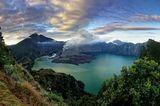 Kratersee des Gunung Rinjani (Lombok, Indonesien)