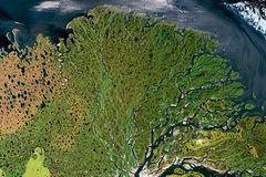 Der Fluss Lena, Sibirien