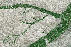 Hochland in der chinesischen Provinz Gansu