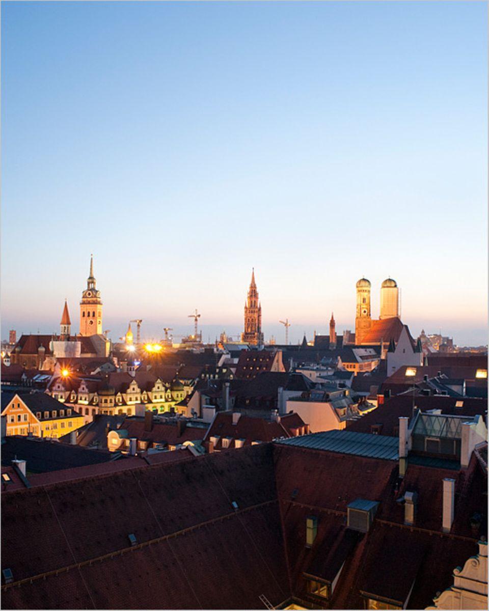 München in der Abendsonne