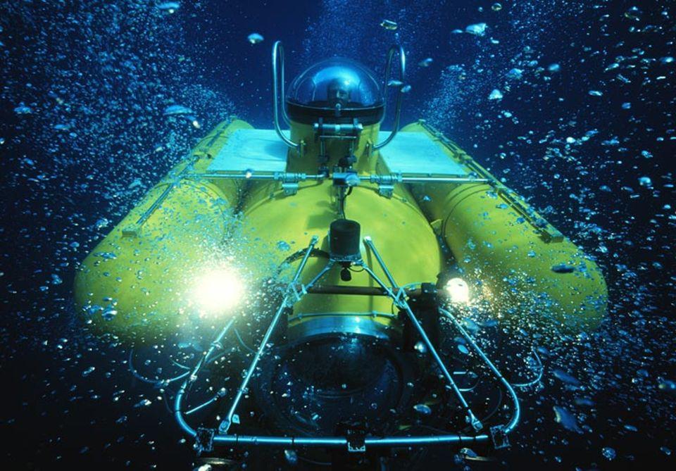 Nur mit einem Tauchboot gelangt man zu den Kaltwasserkorallen