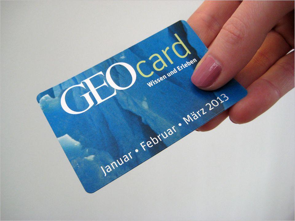 Liegt der Januar-Ausgabe für Abonnenten bei: die neue GEOcard