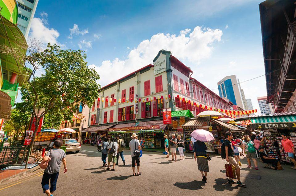 Singapur: Unbedingt durch die Gassen von China Town laufen - das darf niemand verpassen, empfiehlt Isabel Schrimpf