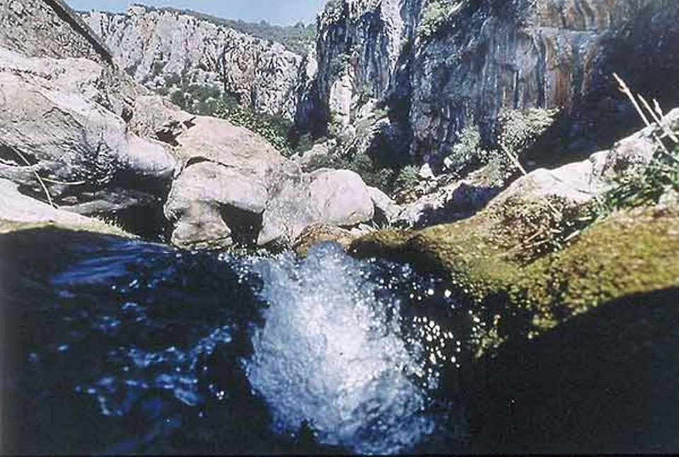 Selbst am Ende eines trockenen Sommers sind die Stauseen gut gefüllt. Der Guadalquivir sprudelt hier noch als munterer Gebirgsbach durchs Tal
