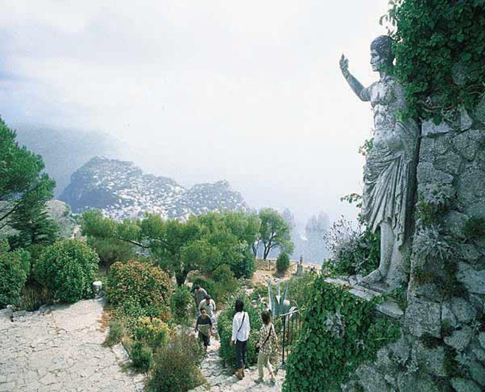 Der Monte Solaro ist mit 589 Metern der Spitzenberg der Insel